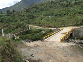 Puente San Vicente, municipio de Páez, Cauca, Septiembre de 2013