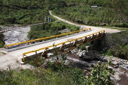 Puente San Vicente, municipio de Páez, noviembre 2013