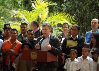 Encuentro con el Presidente de la República de Colombia, Juan Manuel Santos Calderón