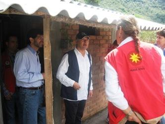 Presidente del Banco Agrario visita viviendas de interés social rural en Totoró