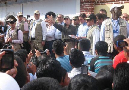 Consejo de Ministros en Toribío, Cauca,  julio 11 de 2012