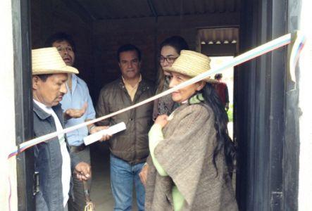 Entrega de viviendas resguardo de Pitayó, municipio de Silvia. Convenio Banagrario – Gobernación del Cauca – CNK