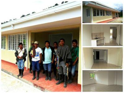 Puesto de Salud de El Cabuyo, resguardo de Vitoncó, municipio de Páez, Cauca