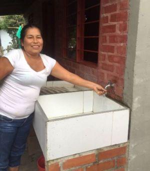 Beneficiaria de los sistemas de acueducto en el municipio de Páez 2016