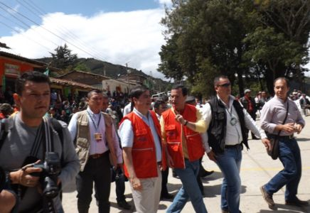 Ministro del Interior, Juan Fernando Cristo Bustos en conmemoración de los 200 años de fundación de Totoró