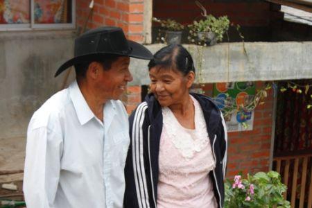 Beneficiarios del proyecto de vivienda Las Américas, Belalcázar, municipio de Páez
