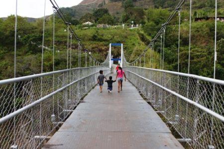 Puente peatonal y caballar de Aranzazu, municipio de Páez, Cauca