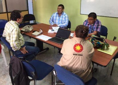 Articulación de la experiencia piloto en gestión del Riesgo con la Alcaldía de Totoró