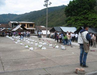 Homenaje a los muertos del conflicto en Toribío