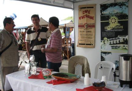 Café K´wes Kiwe, del municipio de Inzá en Stand de IX Congreso Gastronómico de Popayán