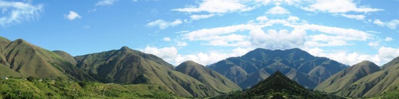 Aspecto de la cuenca Río Páez