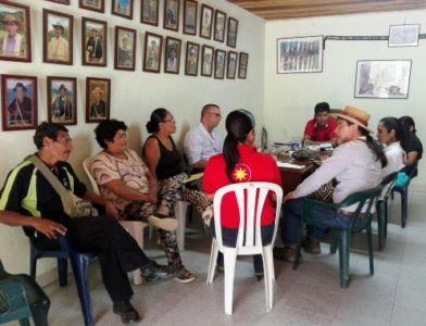 Concertación demoliciones Mesa de Avimara, municipio de Páez