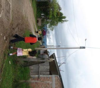 Electrificación, reasentamiento de El Carmen, La estrella, municipio de La Plata