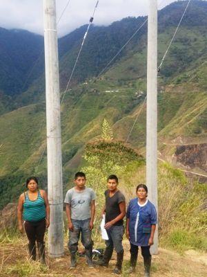 Obras de electrificación La Hondura, municipio de Páez