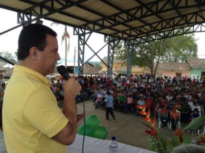 Entrega  de vivienda en el municipio de Caldono, Cauca