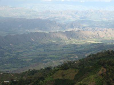 Espiral montañoso en el Huila