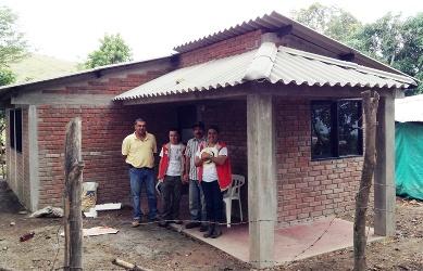 Viviendas dispersas en Gigante, departamento del Huila