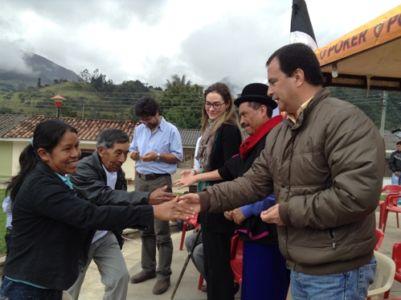 Entrega de viviendas resguardo de Pitayó, muniicpio de Silvia