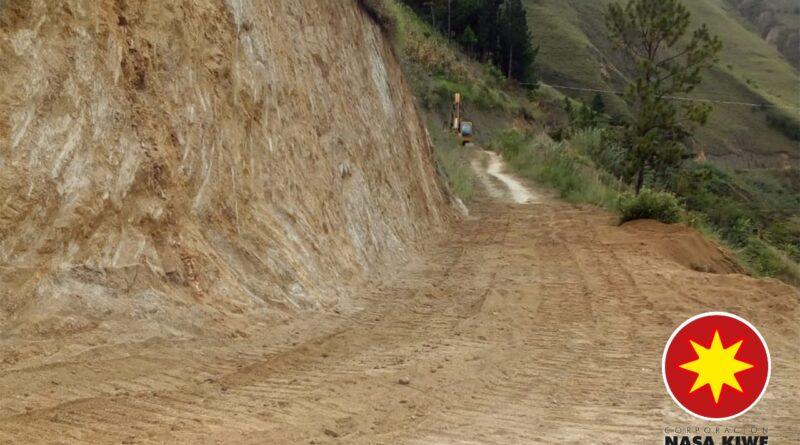 vía Taravira–Guaquiyó-Avirama, en el municipio de Páez