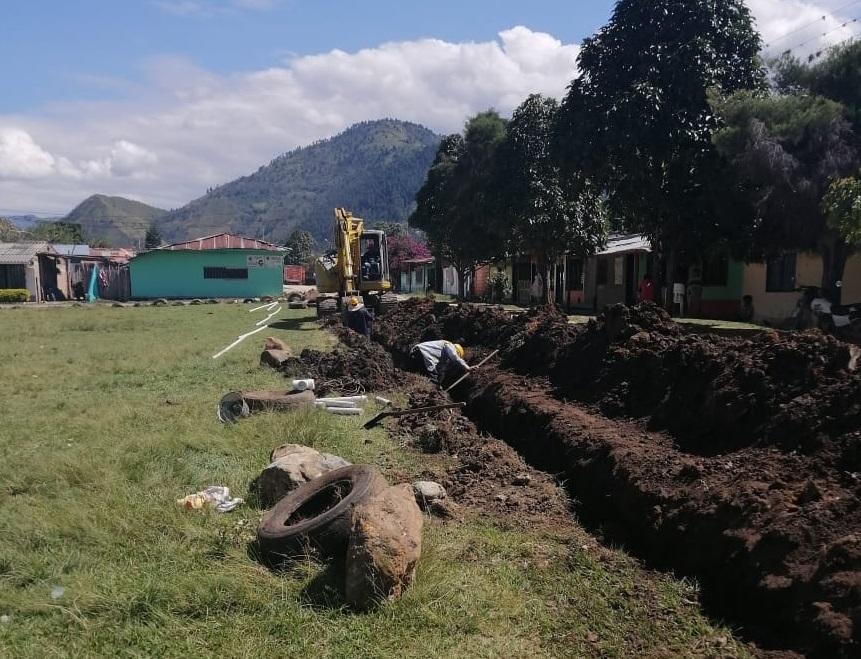 Obras acueducto de Ricaurte, municipio de Páez, Cauca.