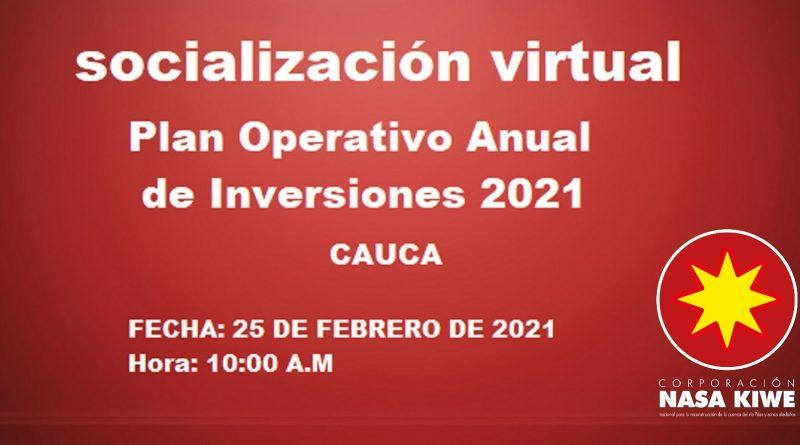 socializa plan operativo anual de inversiones 2021