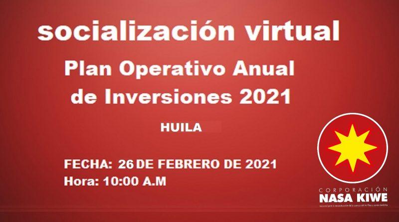 Corporación Nasa Kiwe socializa plan operativo anual de inversiones en Huila