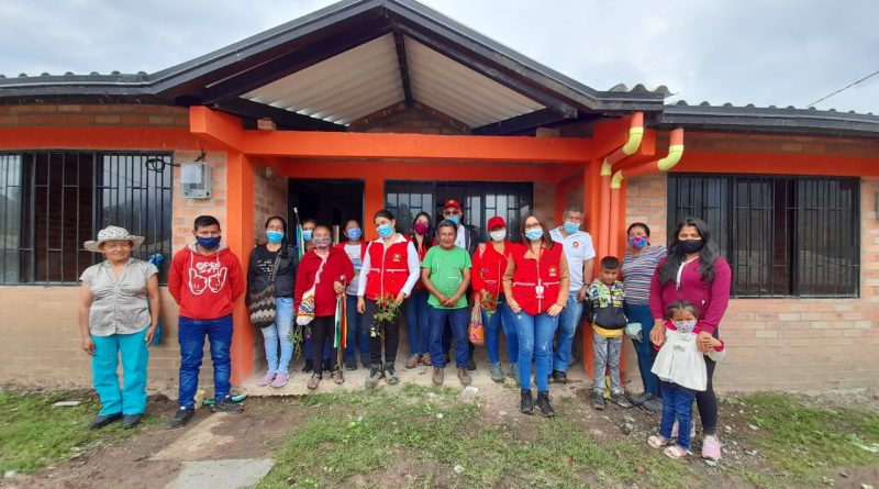 Corporación Nasa Kiwe entregó nuevas viviendas en el resguardo Mesa de Togoima, Municipio de Páez