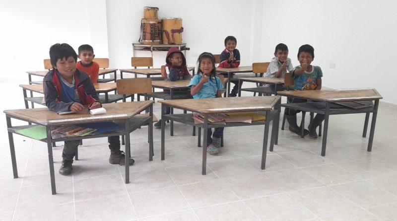 Estudiantes de preescolar de la Escuela Rural Mixta Mesa de Tálaga